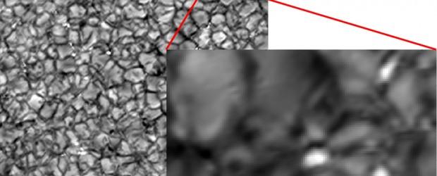 Die kleinsten Bausteine des Sonnenmagnetfeldes haben Wissenschaftler des Max-Planck-Instituts für Sonnensystemforschung (MPS) erstmals sichtbar gemacht und charakterisiert. Die Magnetfeldstärke in diesen winzigen, nur einige hundert Kilometer großen Bereichen übertrifft die […]